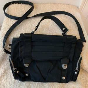 GEORGE GINA & LUCY bag purse black SNAP THE STRAP